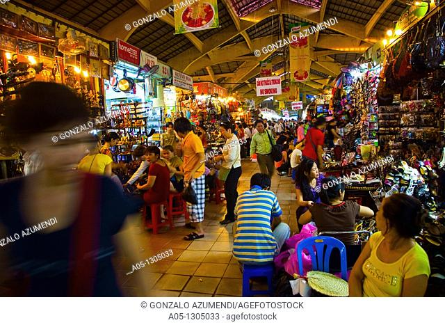 Ben Thanh Market. Ho Chi Minh City (formerly Saigon). South Vietnam