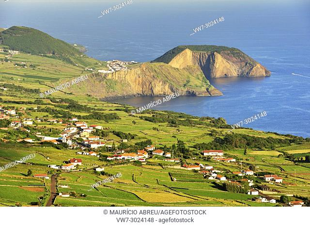 Morro Grande, São Pedro and Velas. São Jorge island. Azores, Portugal
