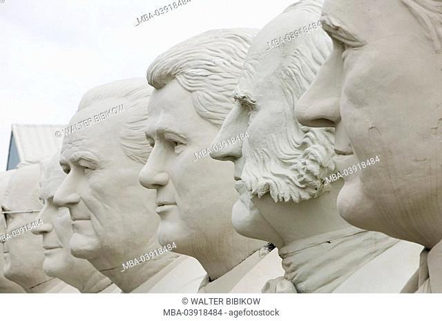 usa, Texas, Houston, U.S.-presidents, sculptures, heads, close-up
