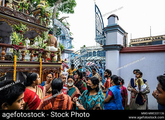 Ratha Jatra also referred to as Ratha Yatra or Chariot festival, is a public procession in a chariot. Sri Sri Krishna Roy's Rath Jatra 2020 (Chariot ride of...