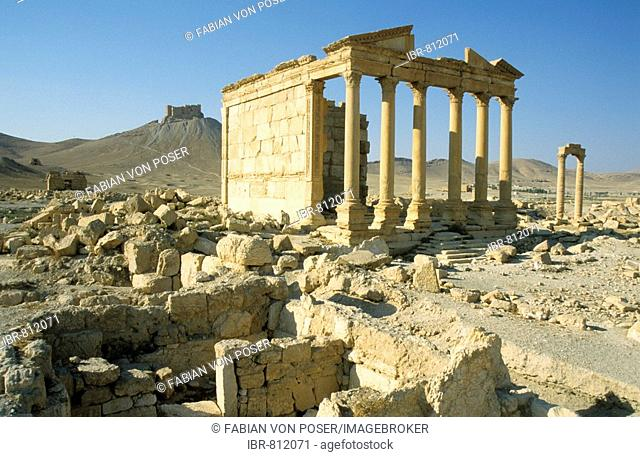 Roman temple ruins, Palmyra, Syria, Middle East