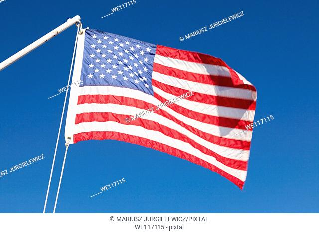 American Flag on Tahoe Queen