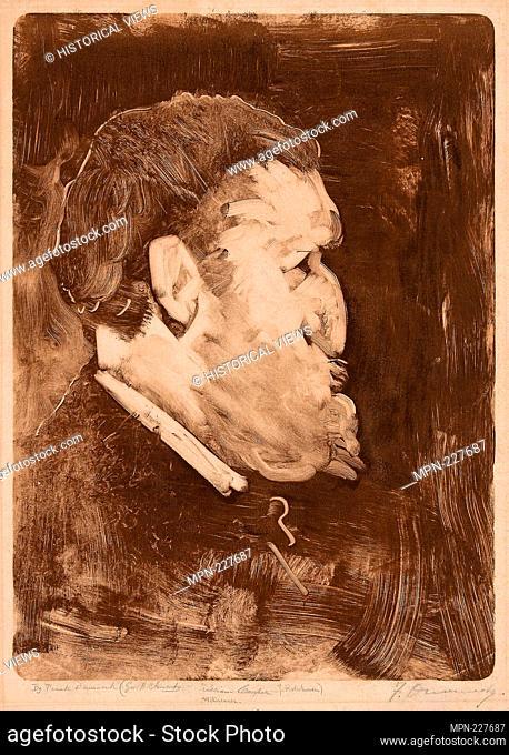 Caricature of William Gedney Bunce - 1883–84 - Frank Duveneck American, 1848-1919 - Artist: Frank Duveneck, Origin: United States, Date: 1883–1884