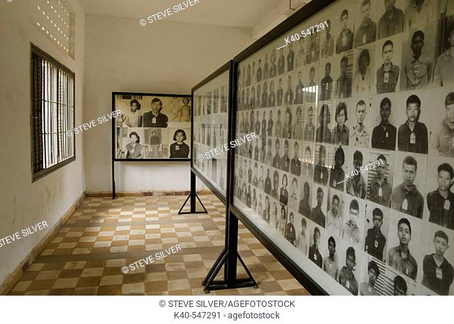 Photographs of victims of Tuol Sleng (Security Prison 21, or S-21). Phnom Penh, Cambodia. Formerly known as Tuol Svay Prey High School