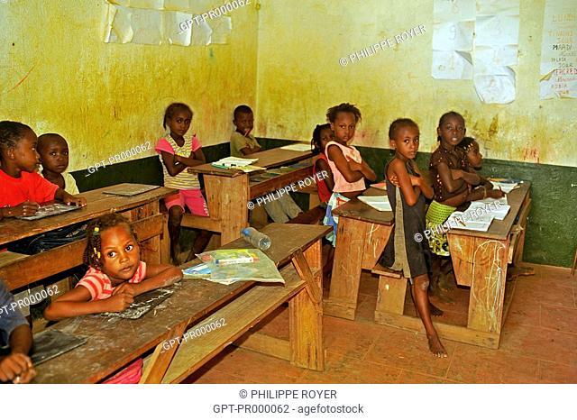 SCHOOLCHILDREN IN THEIR SCHOOL, NoSY KOMBA ISLAND, REPUBLIC OF MADAGASCAR