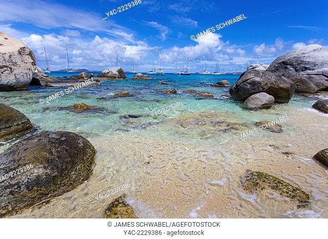 The Baths on the Caribbean Island of Virgin Gorda in the British Virgin Islands