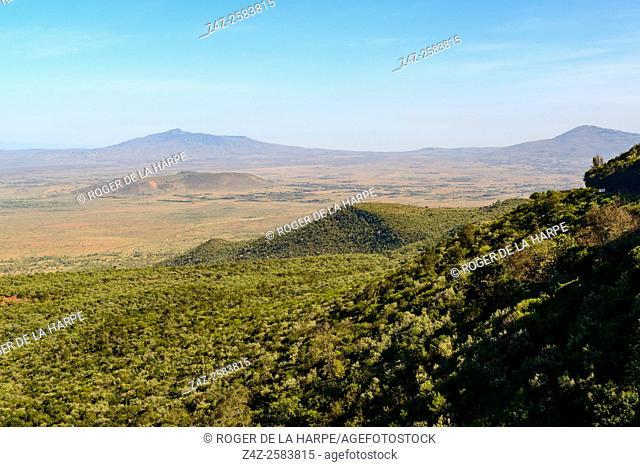 Scenic View of the Great Rift Valley Escarpment. Kikuyu Escarpment. Kenya