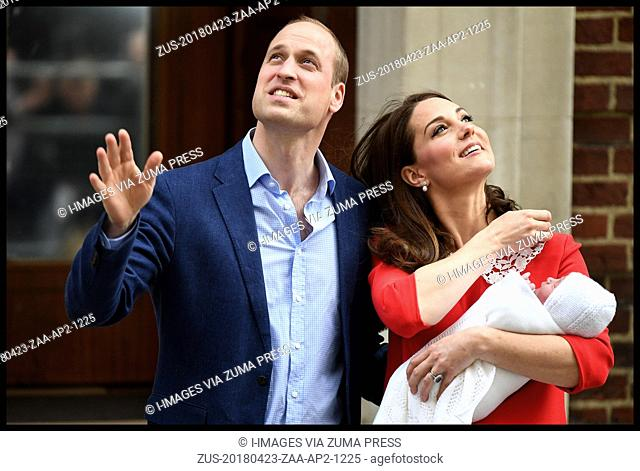 April 23, 2018 - London, London, United Kingdom - Duke and Duchess of Cambridge- New Baby. The Duke of Cambridge with his wife Catherine