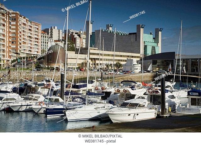 Puerto Chico and Palacio de Festivales, Santander, Cantabria, Spain