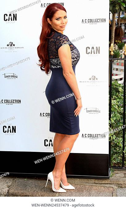 Amy Childs Summer collection showcase at Beach Blanket Babylon, Notting Hill, London Featuring: Amy Childs Where: London