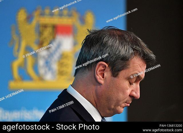 Markus SOEDER (Prime Minister Bavaria and CSU Chairman), looks disgruntled, depressed, single image, trimmed single motif, portrait, portrait, portrait