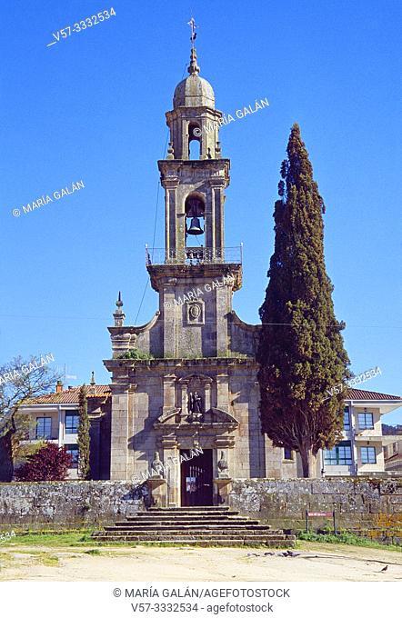 Facade of San Benito church. Allariz, Orense province, Galicia, Spain