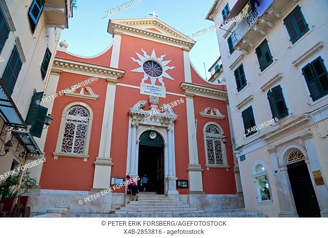 Metropolitan church Panaghia Spiliotissa, Old town, Corfu town, Kerkyra, Corfu Island, Ionian islands, Greece