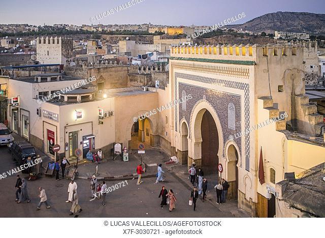 Bab Bou Jeloud gate, medina, Fez. Morocco