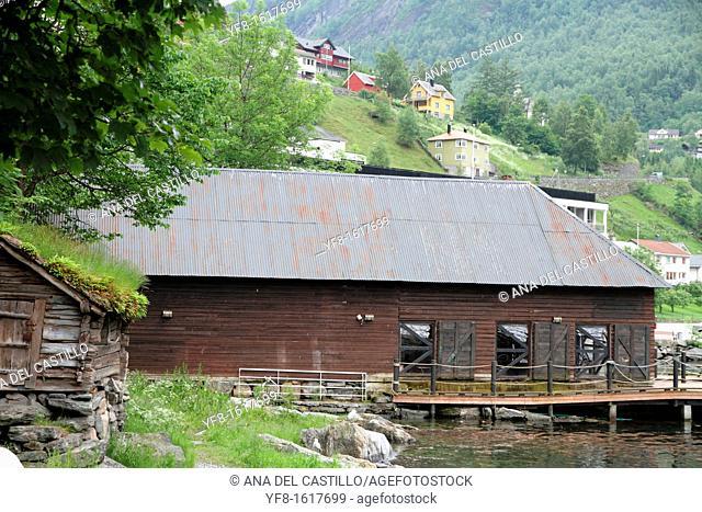Village Geiranger, Geiranger fjord, Norway