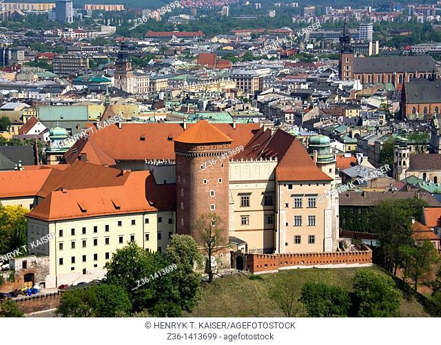 Poland, Krakow, Wawel Royal Castle at Wawel Hill