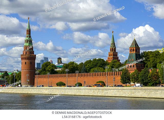 Kremlin wall at Moscow Russian Moskva city National capital of Russia