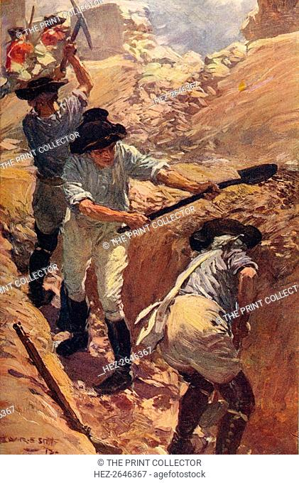 'Clive in the Trenches at Arcot', 1751 (c1912). Artist: Unknown