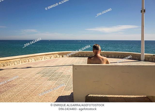 Bench, Costa Blanca, White coast, Alicante province, Spain