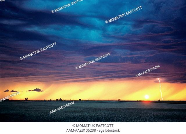Lightning Storm over Prairie, Manitoba, Canada
