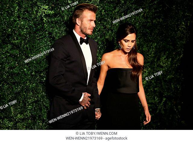 60th London Evening Standard Theatre Awards 2014 held at the London Palladium Featuring: David Beckham, Victoria Beckham Where: London