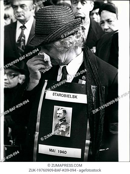Sep. 09, 1976 - Ceremonial unveiling of the Katyn Memorial in London at which the government refused to be represented: Thousands of Poles from Britain and...