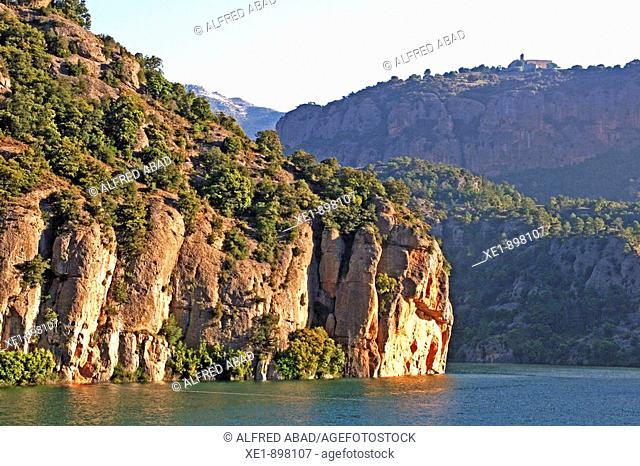 Llosa del Cavall reservoir. Solsones, Lleida province, Catalonia, Spain
