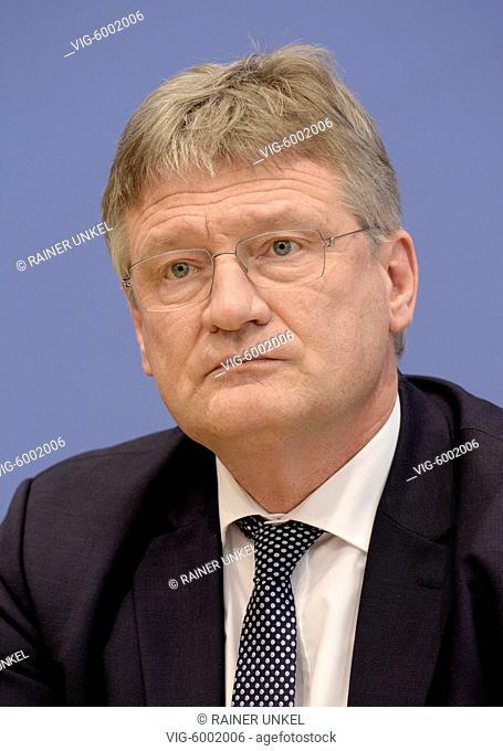 Joerg MEUTHEN , Co-Chairman of AfD party , 12.03.2018 - Berlin, Berlin, Germany, 12/03/2018