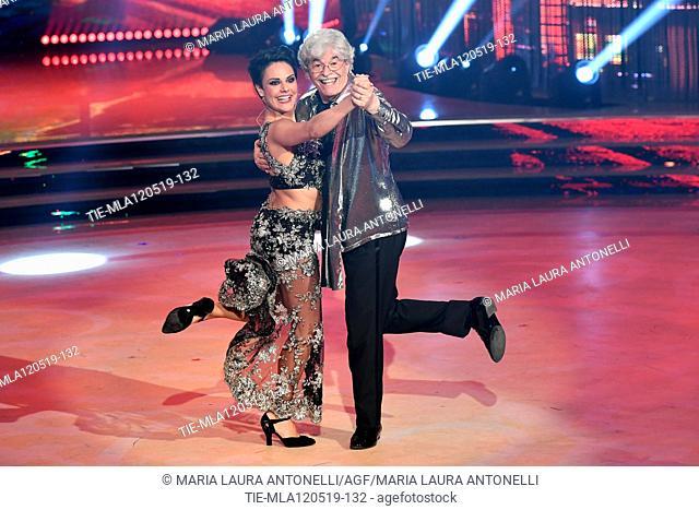 Antonio Razzi during the performance at the tv show Ballando con le setelle (Dancing with the stars) Rome, ITALY-11-05-2019