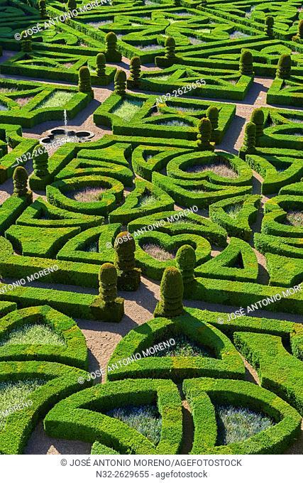 Villandry, Castle Gardens, Château de Villandry, Indre et Loire,Touraine, Loire Valley, UNESCO World Heritage Site, France