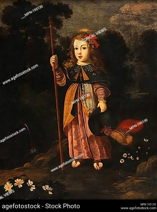 Menino Jesus Peregrino, painting by Josefa de Óbidos. Oil on canvas 103 x 83 cm. (40.6 x 32.7 in.). National Museum of Ancient Art, Lisbon, Portugal