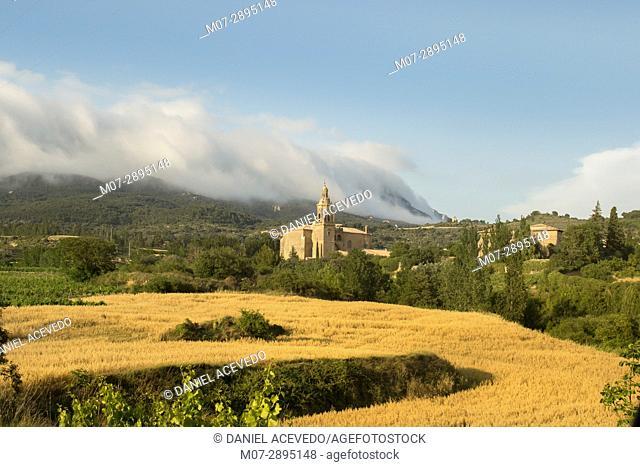 Ábalos village, La Rioja wine region, Spain, Europe