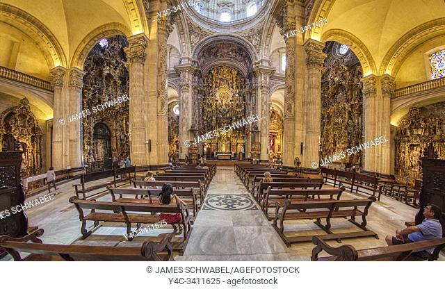 Interior of Church of Our Saviour - Iglesia del Salvador in Seville Spain