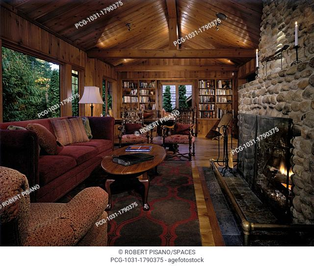 Living Room of a Country Home