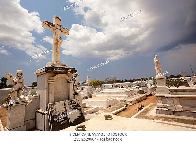 Statues at the cemetery, Trinidad, Cuba, West Indies, Central America
