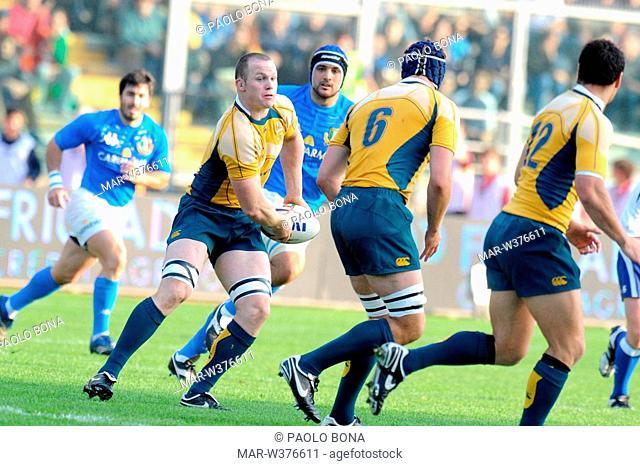 richard brown ,padova 08 11 2008 ,rugby test match italy-australia 20-30 ,photo paolo bona/markanews