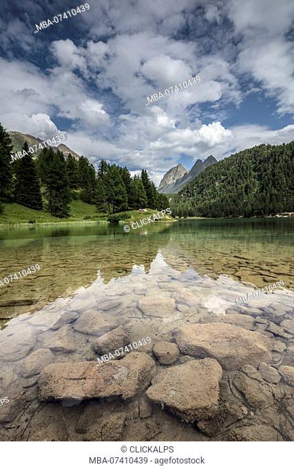 Lai da Palpuogna (Palpuognasee), Bergün, Albula Pass, canton of Grisons, Switzerland