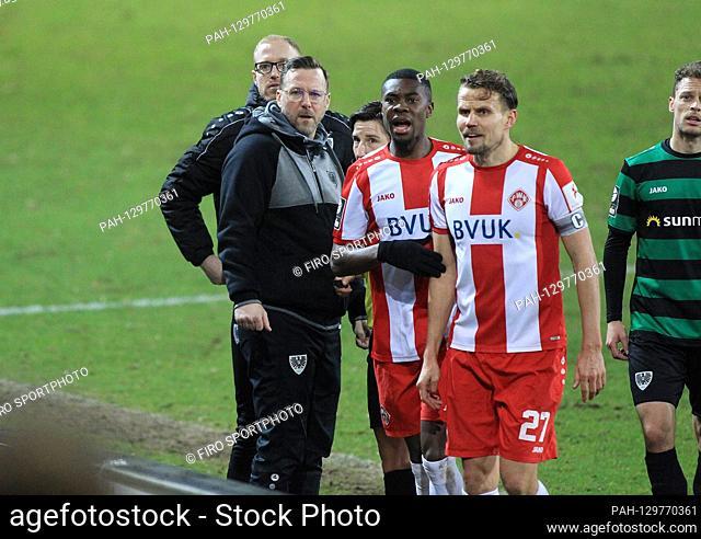 firo: 14.02.2020 Football, 2019/2020 3.Bundesliga SC Preussen Preussen Munster Muenster - Kickers Wurzburg Wurzburg 0: 0 Leroy Kwadwo, half figure