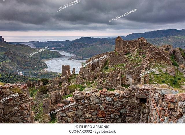 The abandoned village of Amendolea, Griko-speaking areas, Aspromonte, Calabria, Italy, Europe