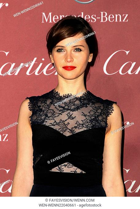 26th Annual Palm Springs International Film Festival Awards Gala presented by Cartier - Arrivals Featuring: Felicity Jones Where: Palm Springs, California