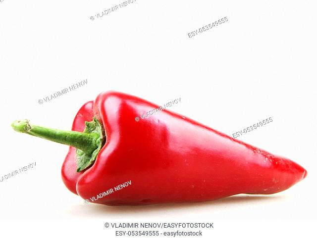 paprika isolated on white