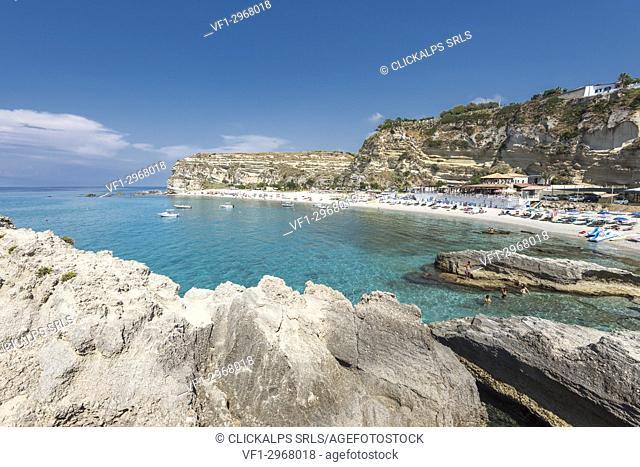 Ricadi, province of Vibo Valentia, Calabria, Italy, Europe. The beach of Riaci