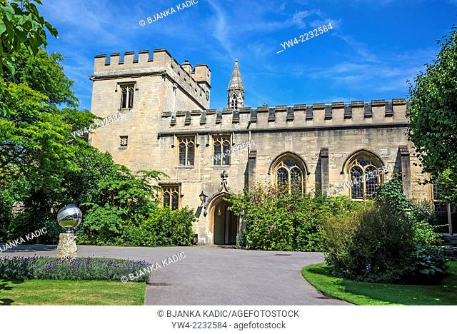Salvin Tower and New Library, Balliol College, Oxford, England, UK