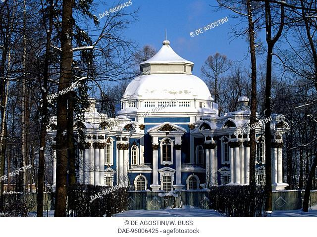 The Hermitage Pavilion, 1746-1756,in the park of Catherine Palace, (Unesco World Heritage List, 1990), Pushkin (Tsarskoye Selo), near St Petersburg, Russia