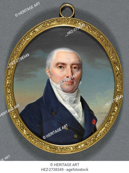 Portrait of Antoine Roy, 1820. Creator: Jean-Baptiste Jacques Augustin (French, 1759-1832)