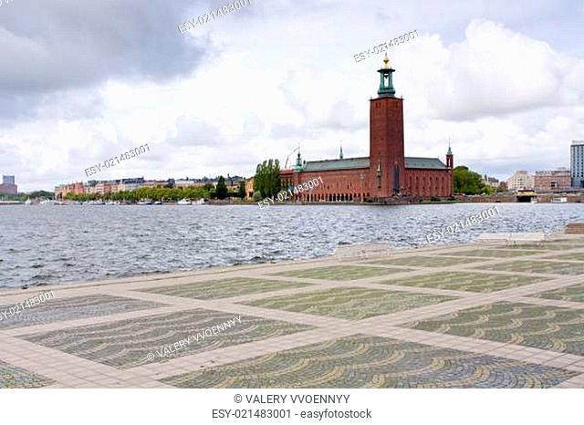 view on City Hall, Stockholm, Sweden
