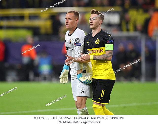 firo: 17.09.2019, football, UEFA Champions League, CL, season 2019/2020, BVB, Borussia Dortmund - FC Barcelona, Barca 0: 0 Goalkeeper Marc-Andre TER STRENGES