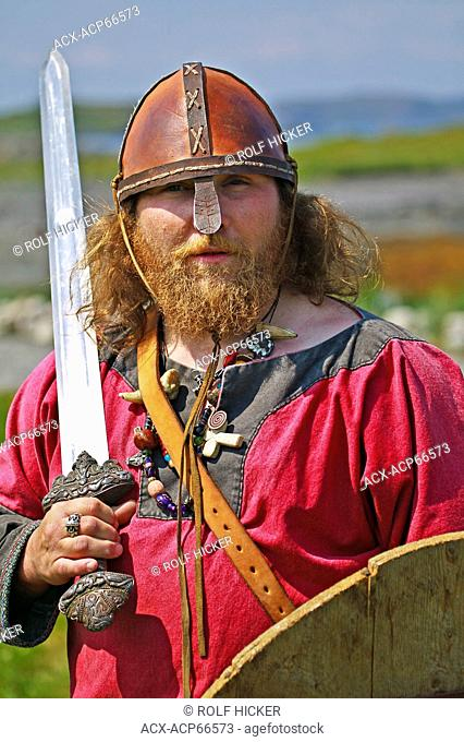 Viking, Norstead Viking Site, L'Anse-aux Meadows, Viking Trail, Northern Peninsula, Newfoundland, Canada