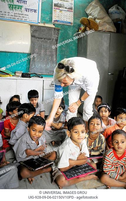 Children At Amrae An Ngo At Nehru Nagar, Golibar Slum, Santacruz, Bombay Mumbai, Maharashtra, India