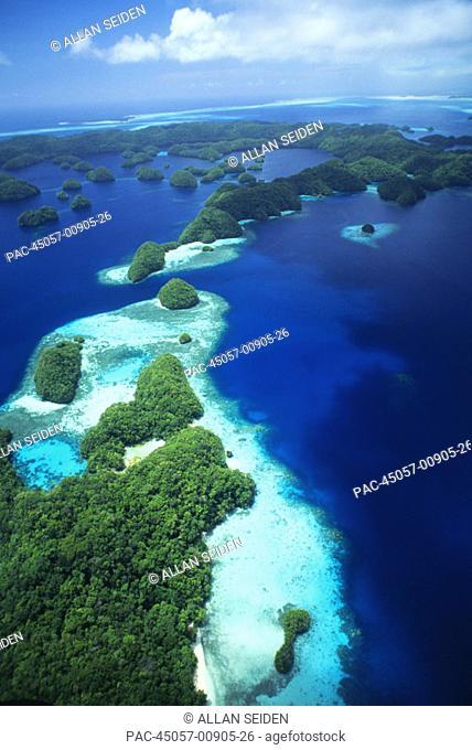 Micronesia, Palau, Rock Islands, aerial